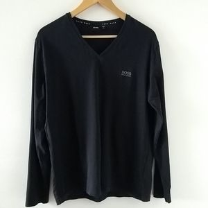 BOSS Hugo Boss mens long sleeve black shirt size M
